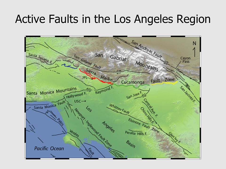 Active Faults in the Los Angeles Region