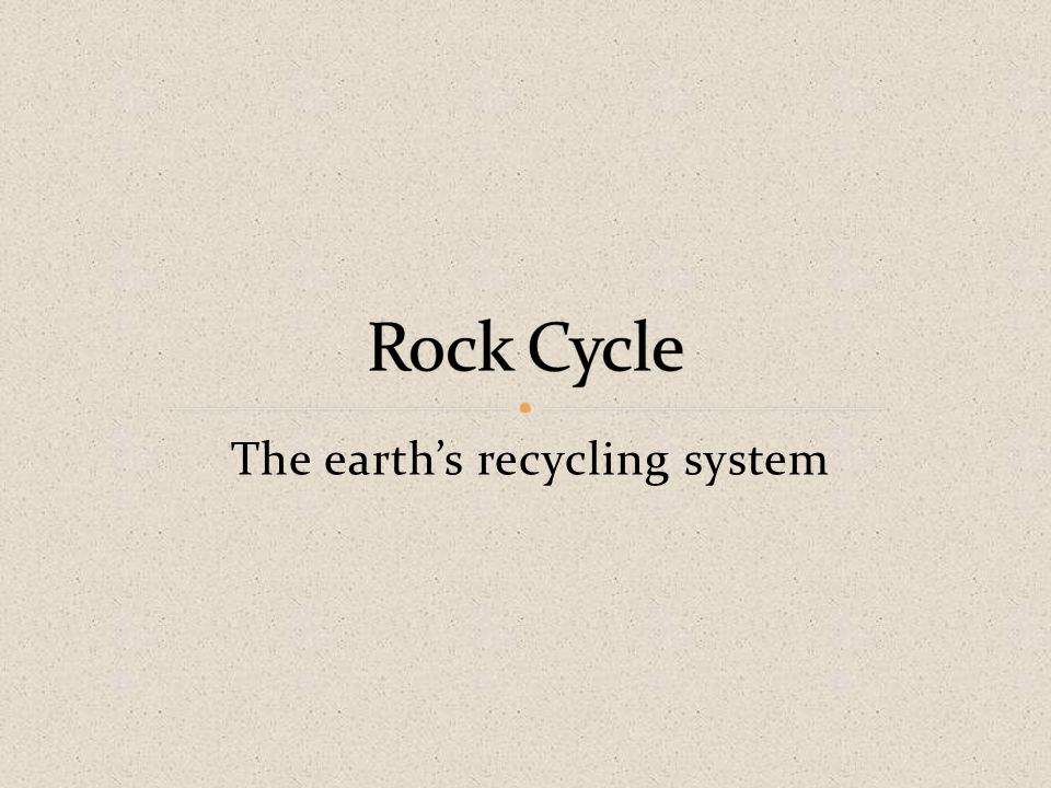 The earth's recycling system