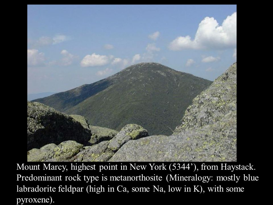 Mount Marcy, highest point in New York (5344'), from Haystack.