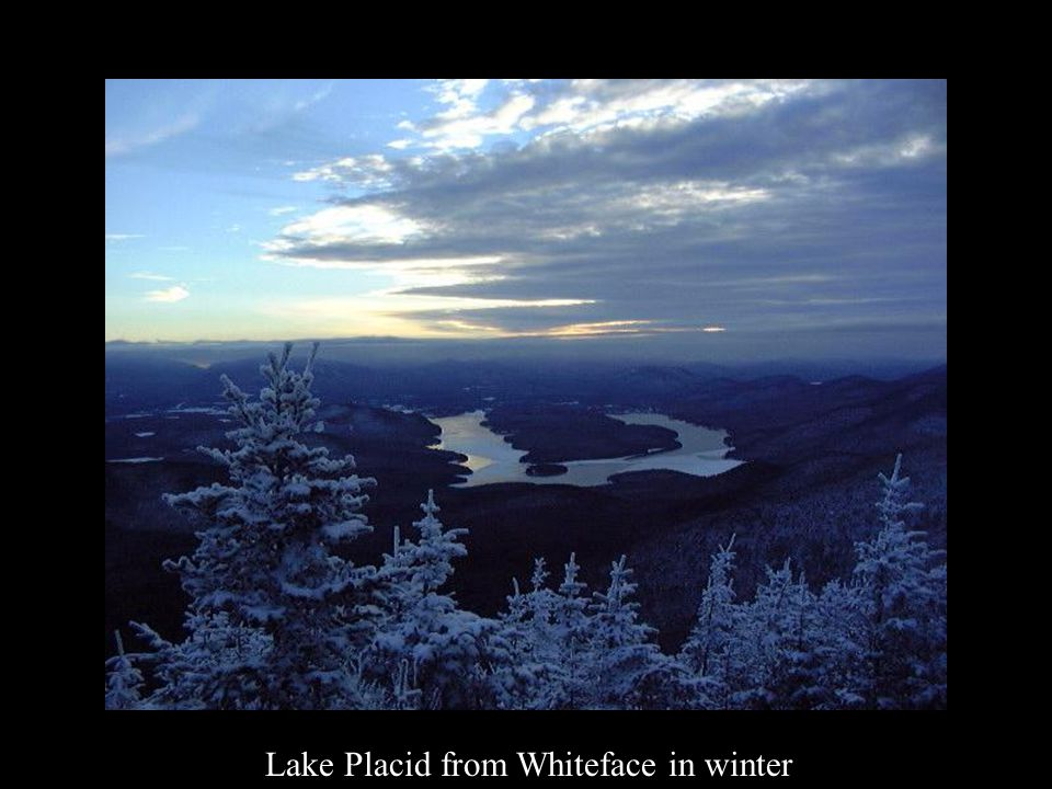 Lake Placid from Whiteface in winter
