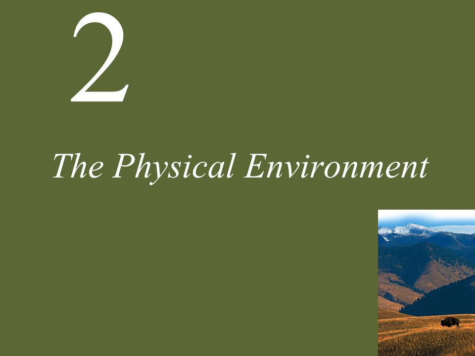 2 The Physical Environment