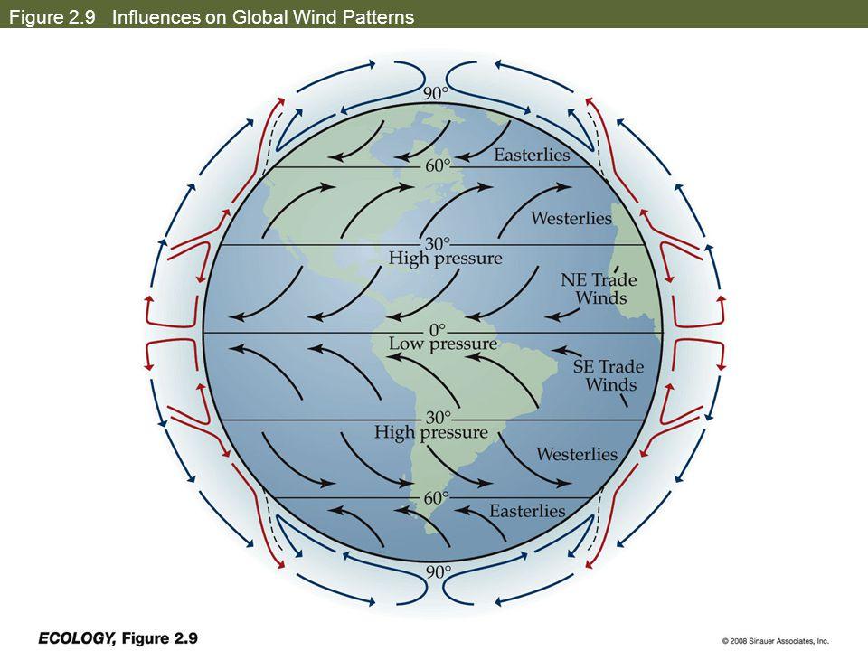 Figure 2.9 Influences on Global Wind Patterns