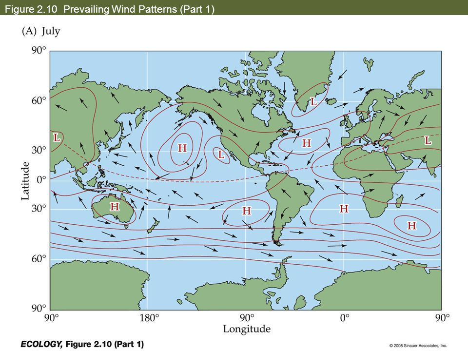 Figure 2.10 Prevailing Wind Patterns (Part 1)