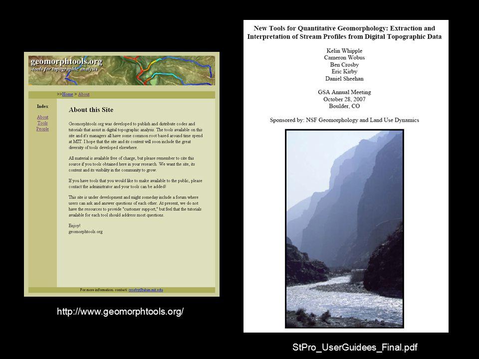 StPro_UserGuidees_Final.pdf http://www.geomorphtools.org/