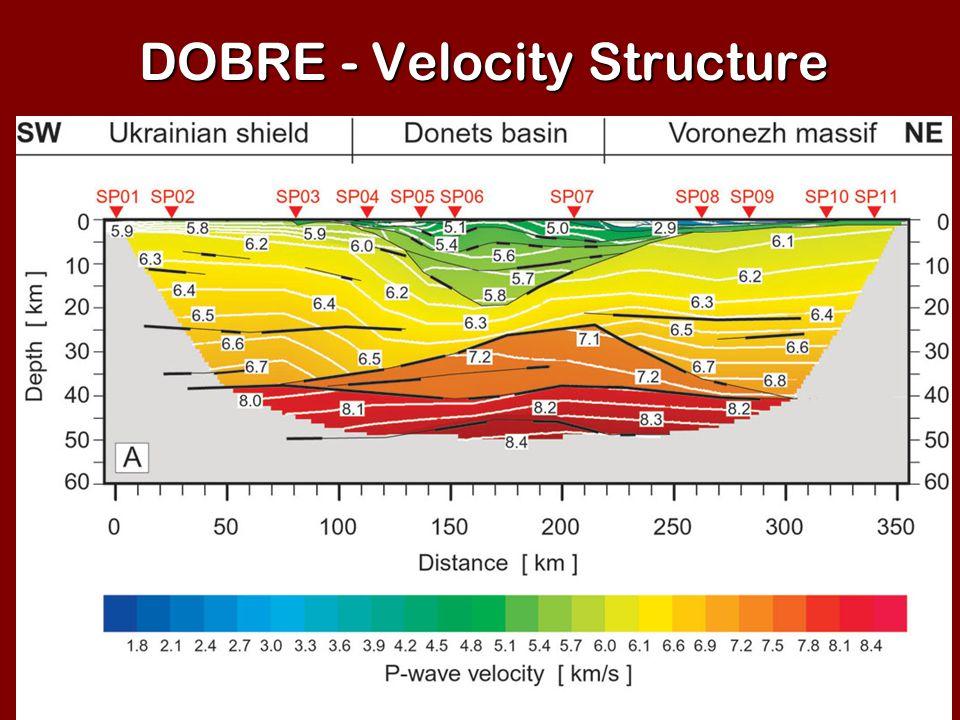 DOBRE - Velocity Structure