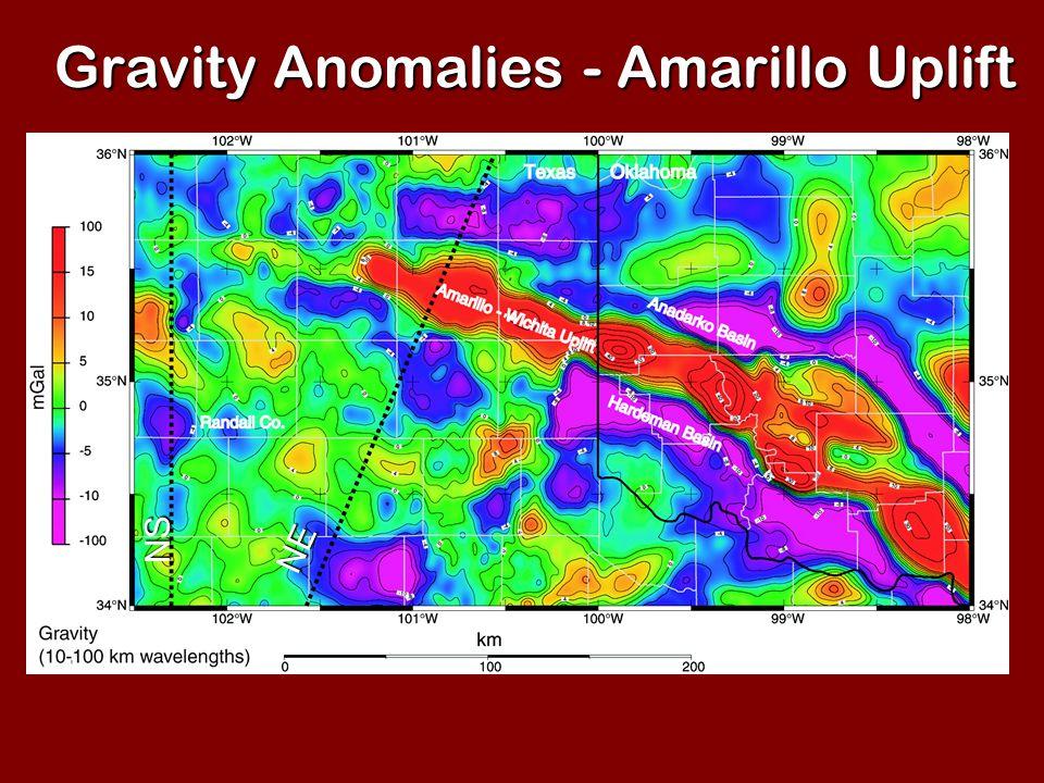 Gravity Anomalies - Amarillo Uplift NE NS