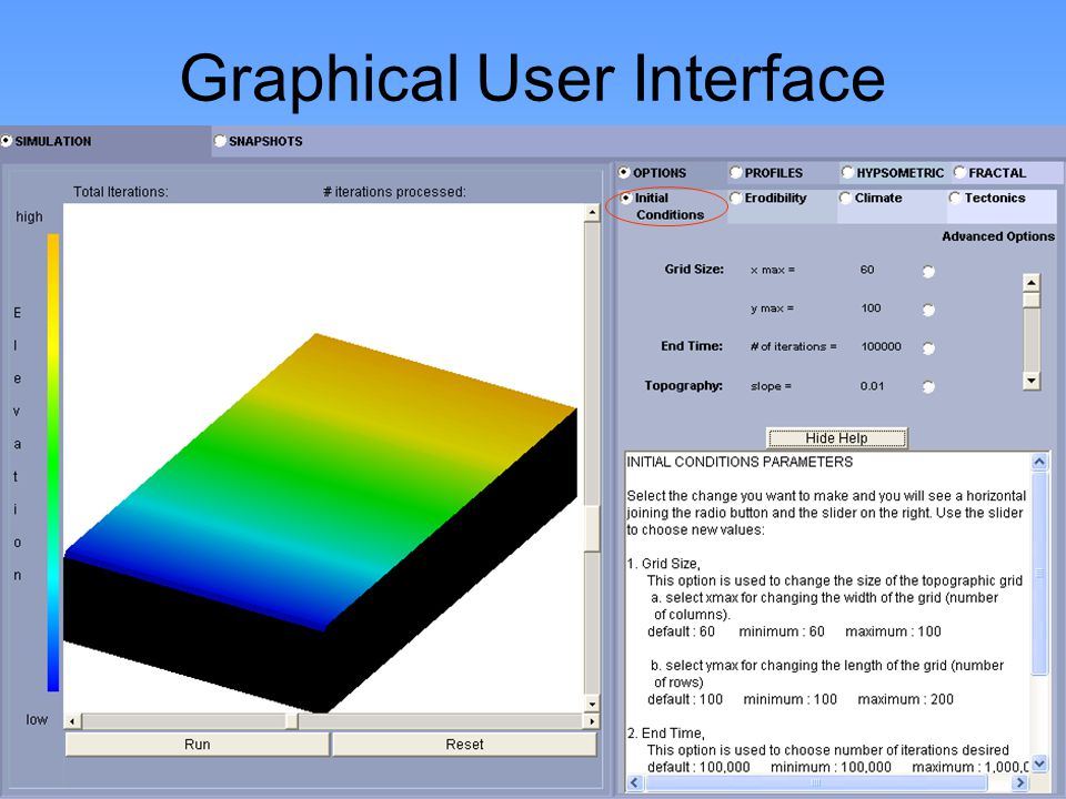 http://www.niu.edu/landform Graphical User Interface
