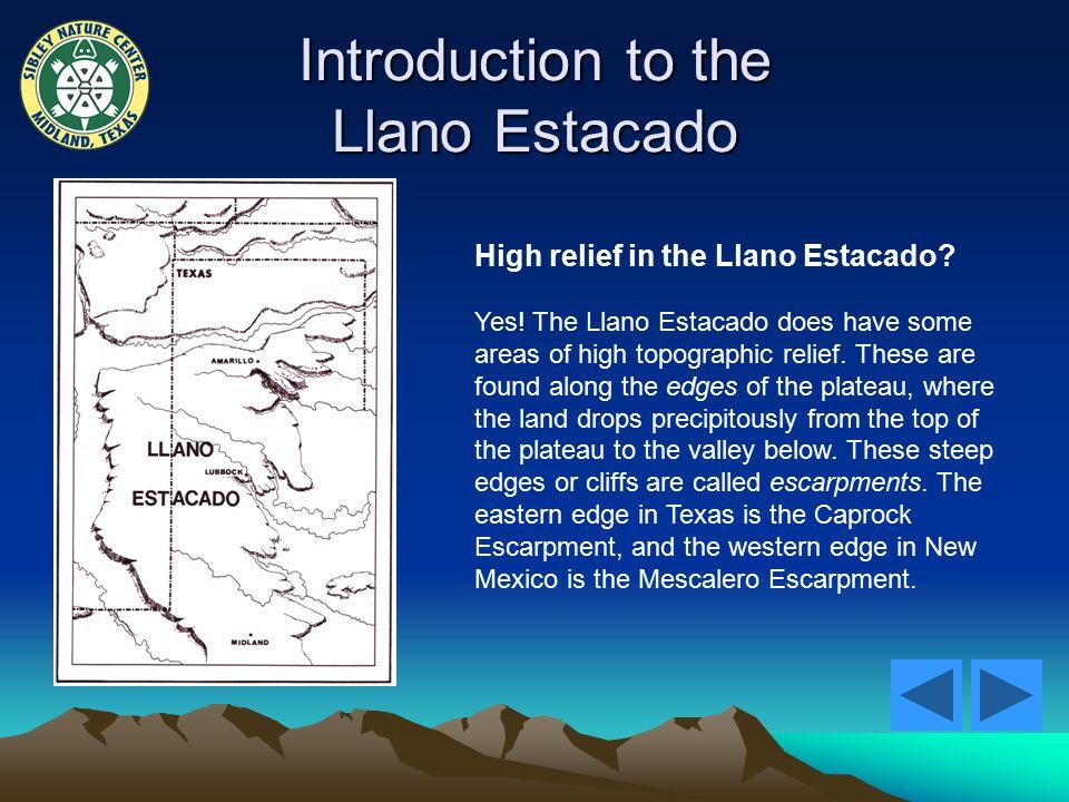 Introduction to the Llano Estacado High relief in the Llano Estacado.