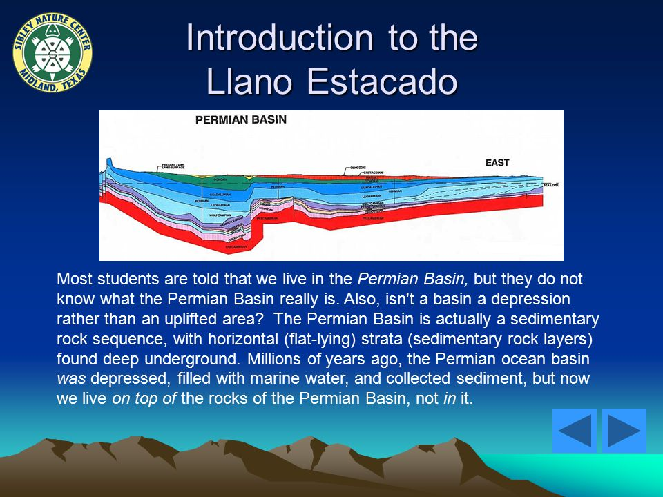 Introduction to the Llano Estacado Most students are told that we live in the Permian Basin, but they do not know what the Permian Basin really is.