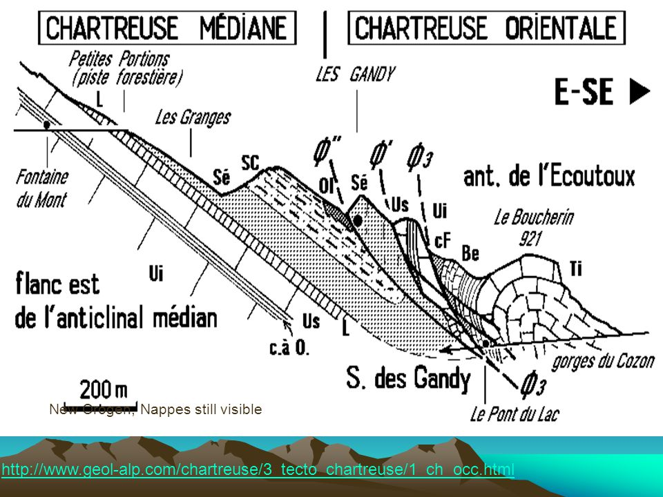 http://www.geol-alp.com/chartreuse/3_tecto_chartreuse/1_ch_occ.html New Orogen, Nappes still visible