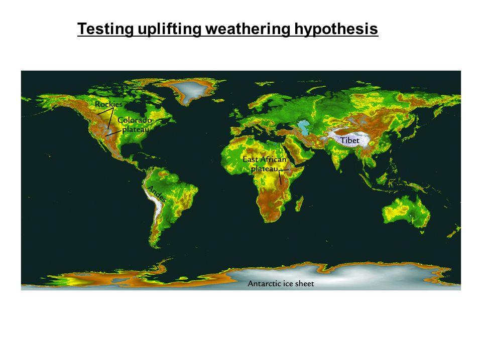 Testing uplifting weathering hypothesis