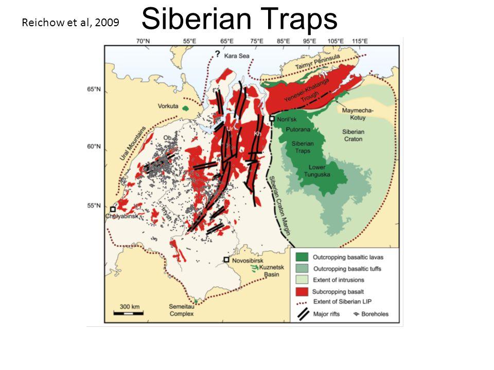 Siberian Traps Reichow et al, 2009