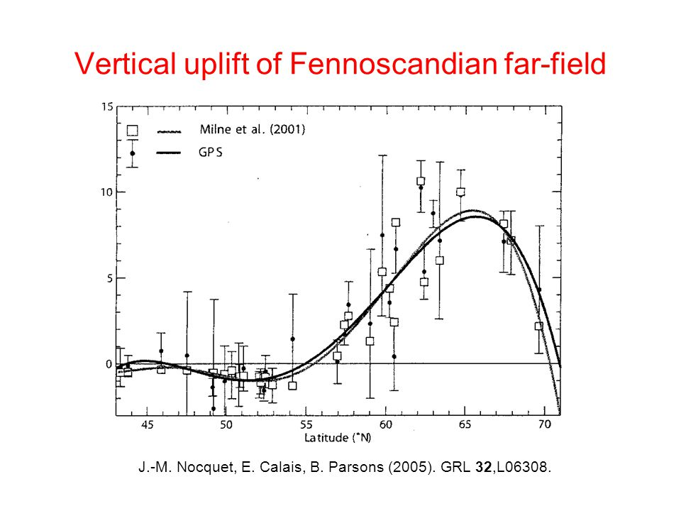 Vertical uplift of Fennoscandian far-field J.-M. Nocquet, E.
