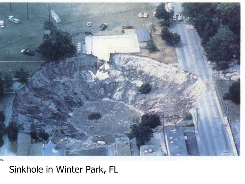 Sinkhole in Winter Park, FL