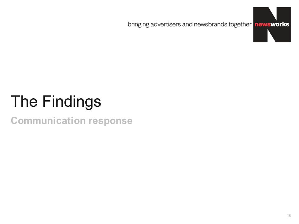 The Findings 16 Communication response