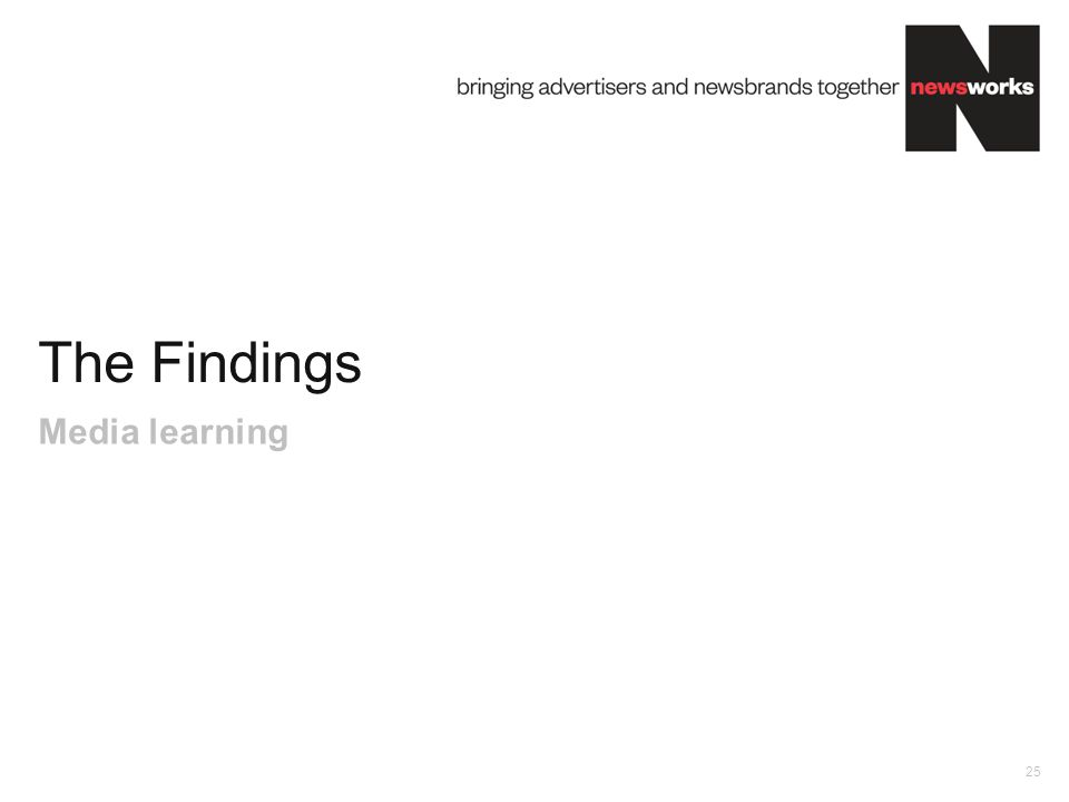The Findings 25 Media learning