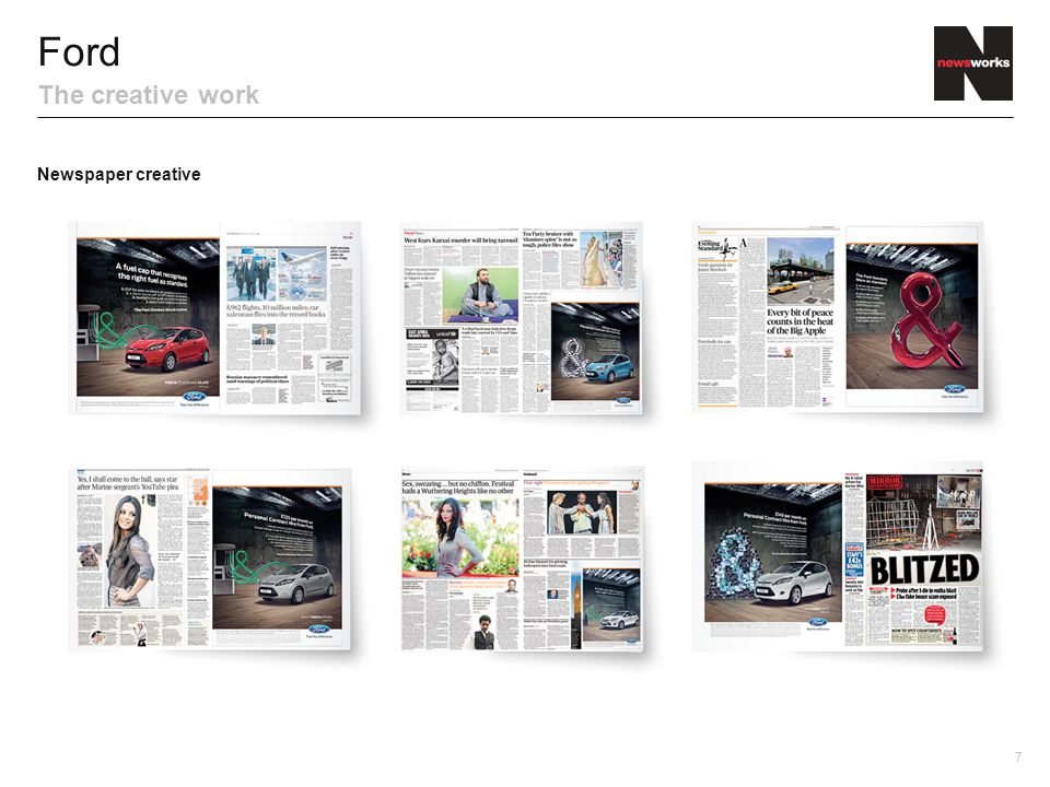 8 Ford The creative work TV creative Outdoor/transport creative Digital newspaper creative