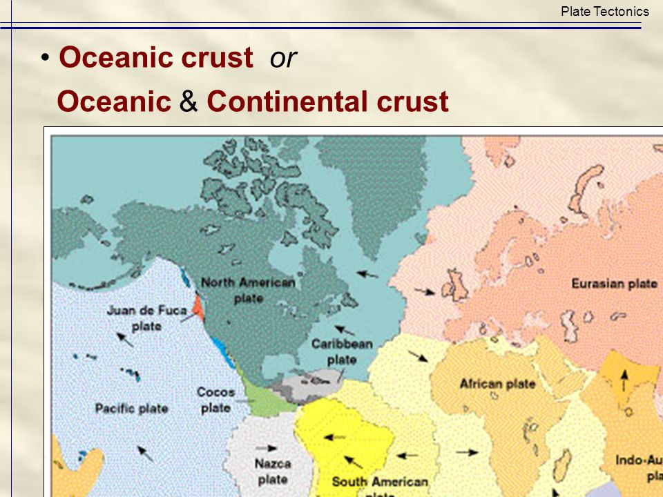 Active continental margin: leading edge of plate (earthquakes, volcanoes, steep mountains) Plate Tectonics