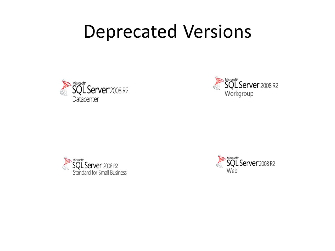 Deprecated Versions