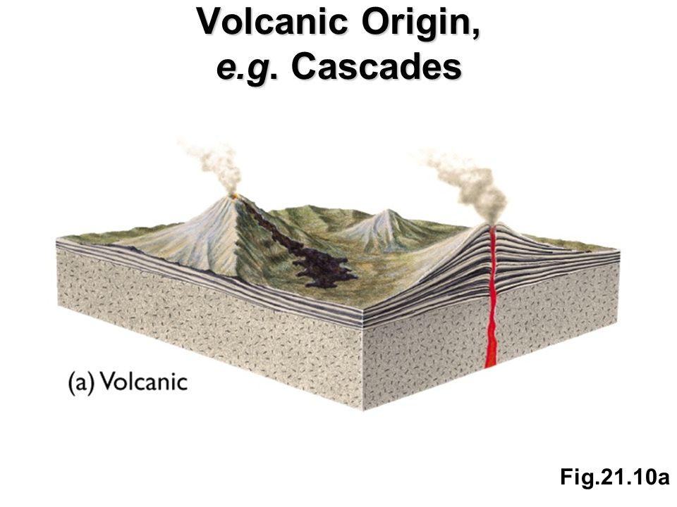 Fig.21.10a Volcanic Origin, e.g. Cascades