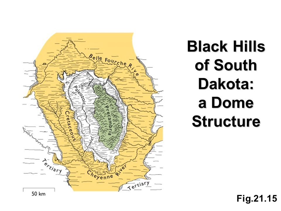Fig.21.15 Black Hills of South Dakota: a Dome Structure