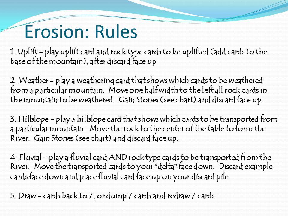 Erosion: Rules 1.