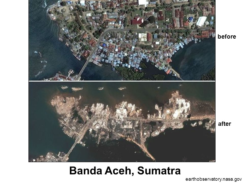 Banda Aceh, Sumatra earthobservatory.nasa.gov before after