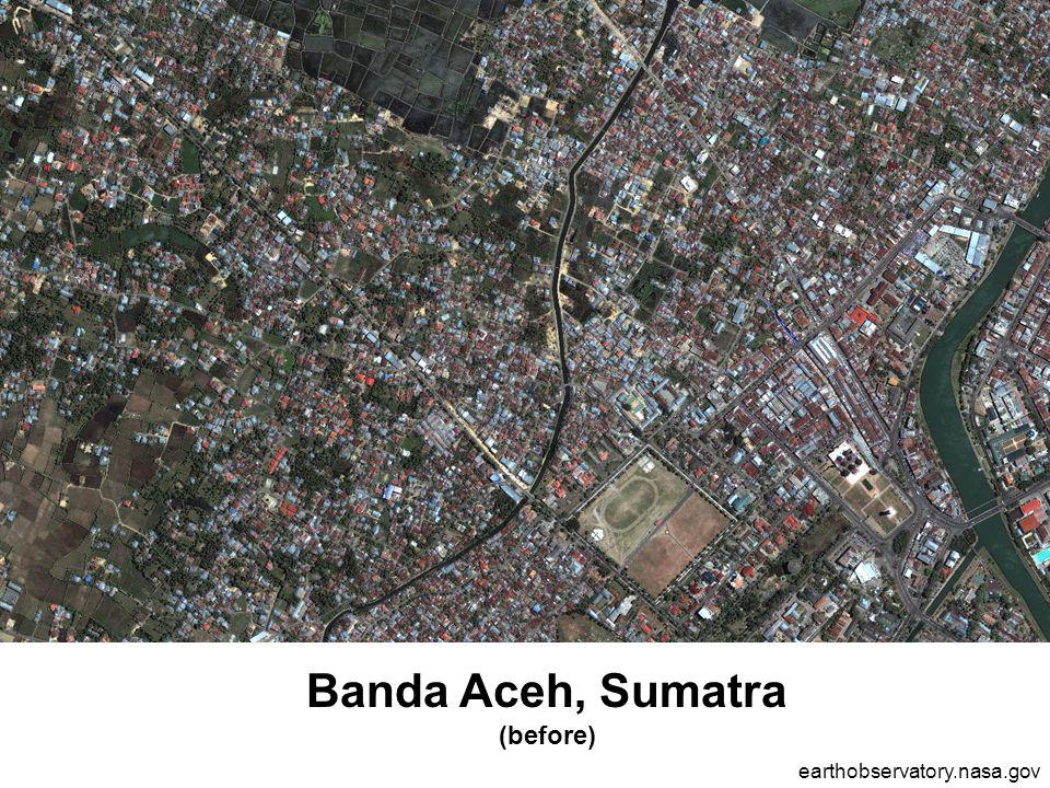 Banda Aceh, Sumatra (before) earthobservatory.nasa.gov