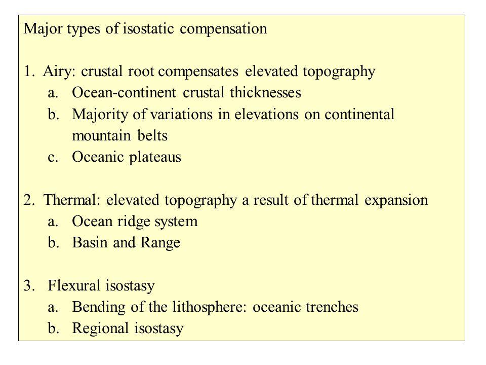 crust mantle Airy isostasy crustal thickening