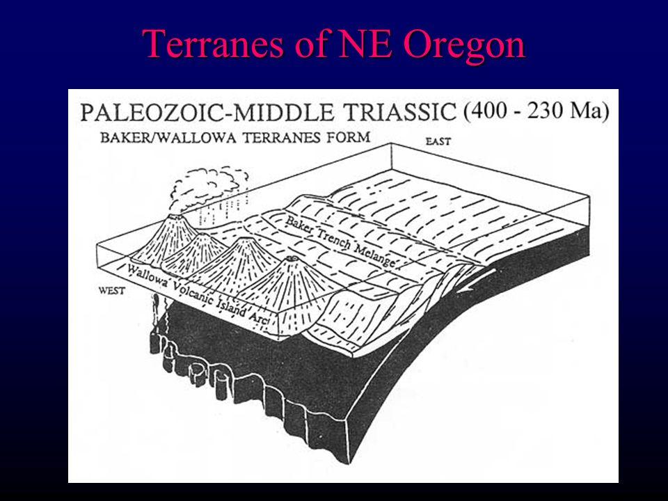 Terranes of NE Oregon