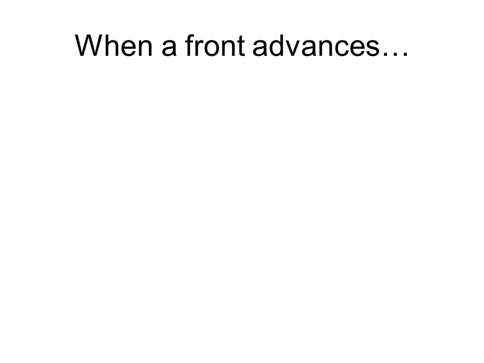 When a front advances…