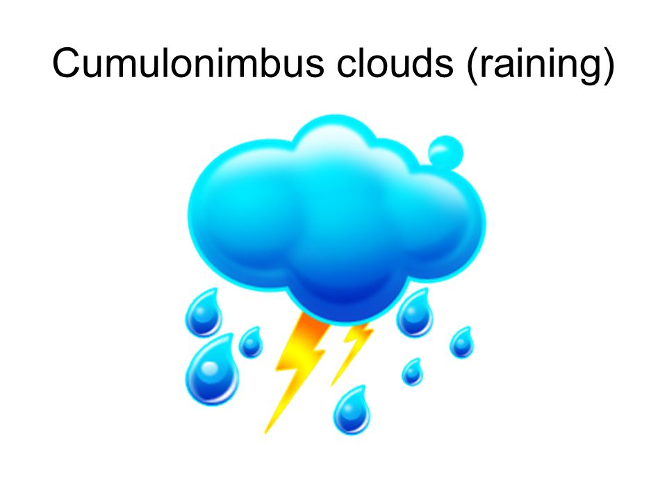 Cumulonimbus clouds (raining)