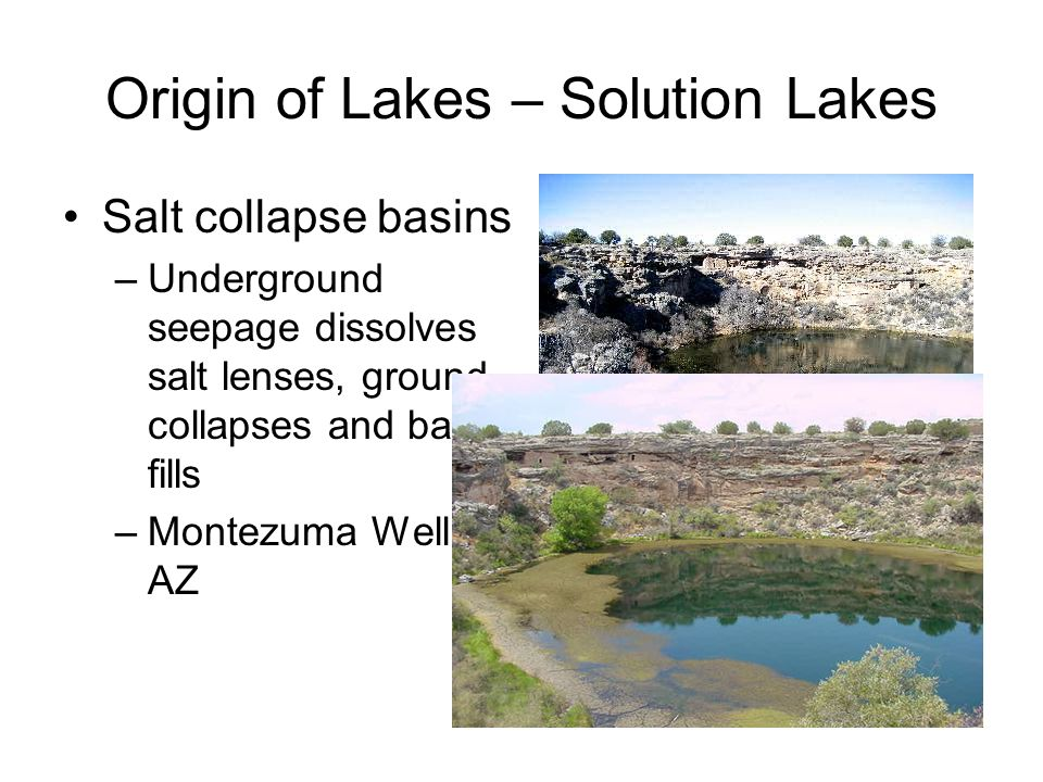 Morphology of Lakes Mean Depth, z bar –zbar = V/A –One of the most important and meaningful morphometric parameters –A general index of lake productivity ↑ zbar  ↑ volume/area, dilution of incoming solar energy, ↑ volume unlit ↓ zbar  ↓ volume/area, concentration of incoming solar energy, ↓ volume unlit