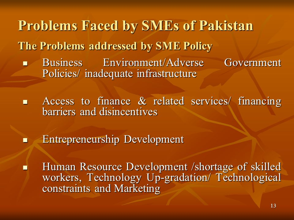 14 Business Environment/Adverse Government Policies/ Inadequate Infrastructure.