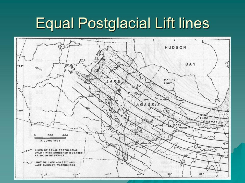 Equal Postglacial Lift lines
