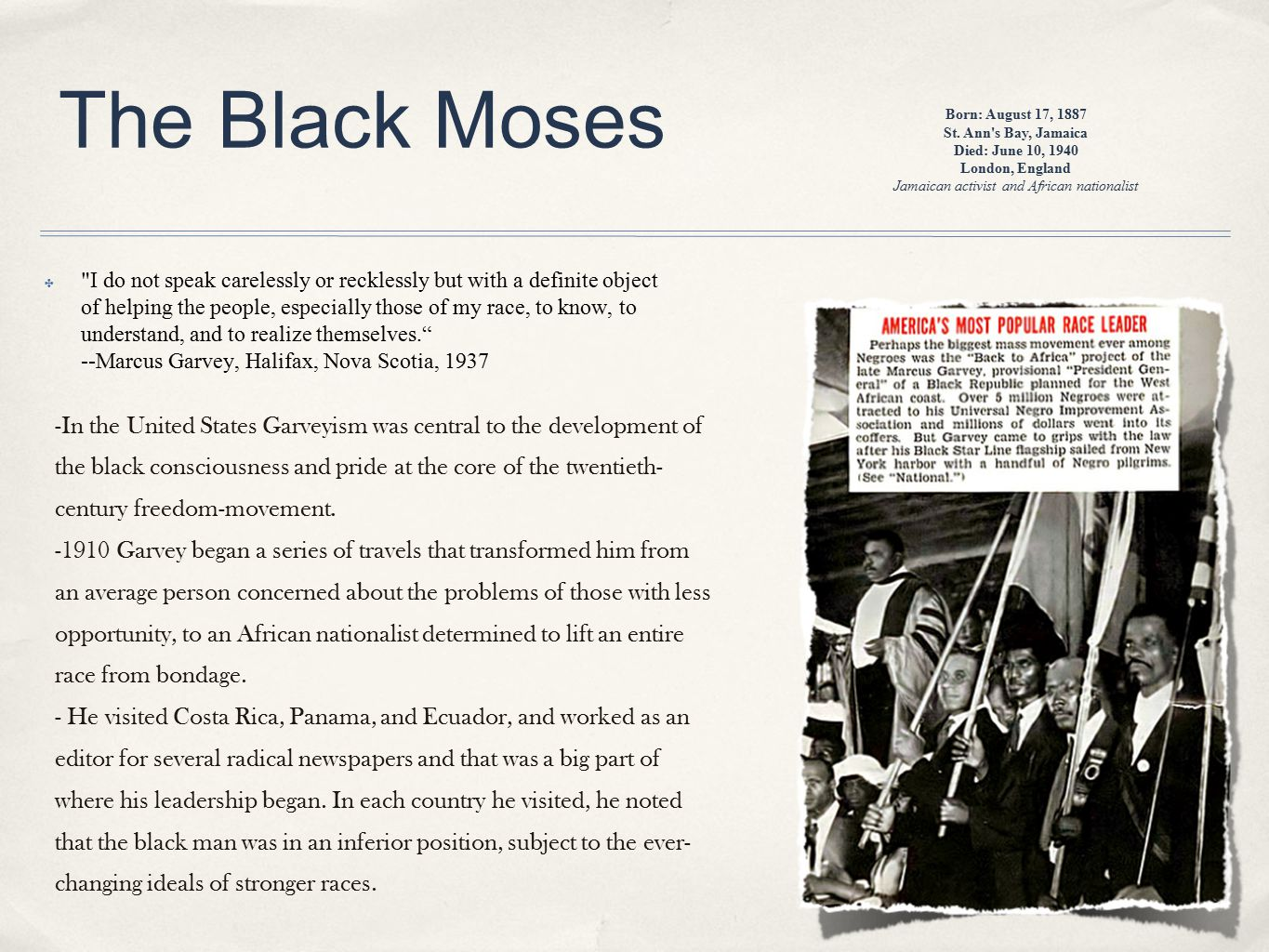 The Black Moses ✤