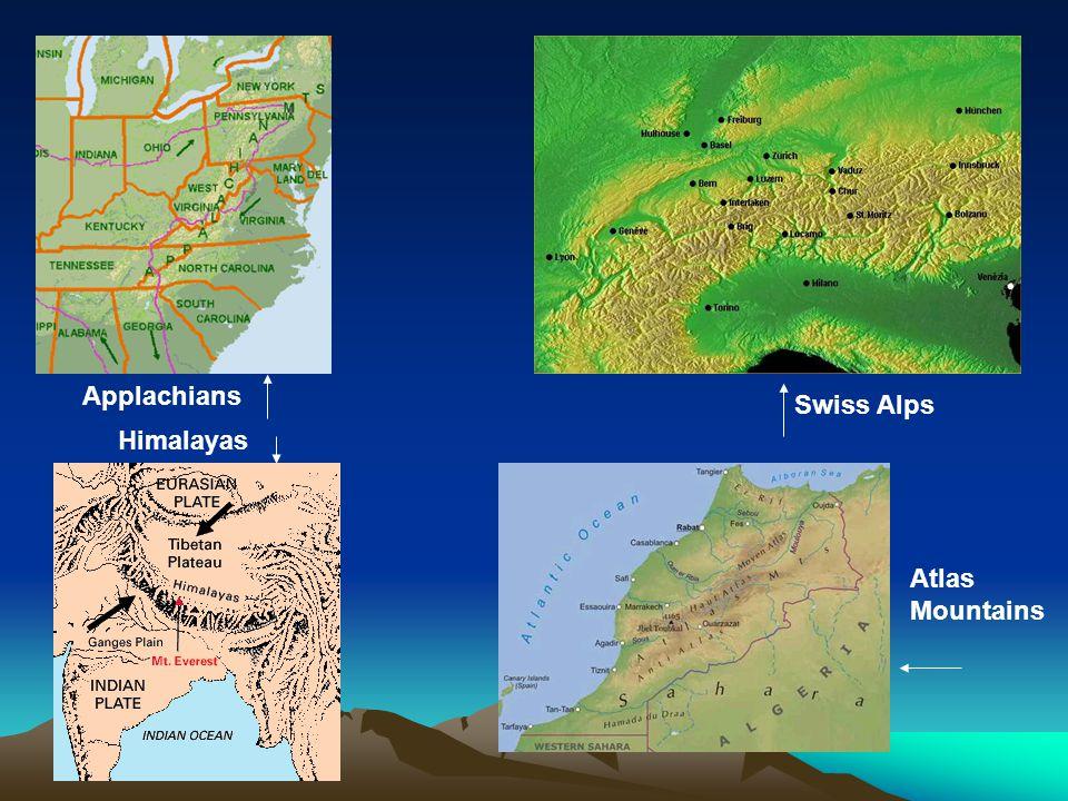 Applachians Swiss Alps Atlas Mountains Himalayas