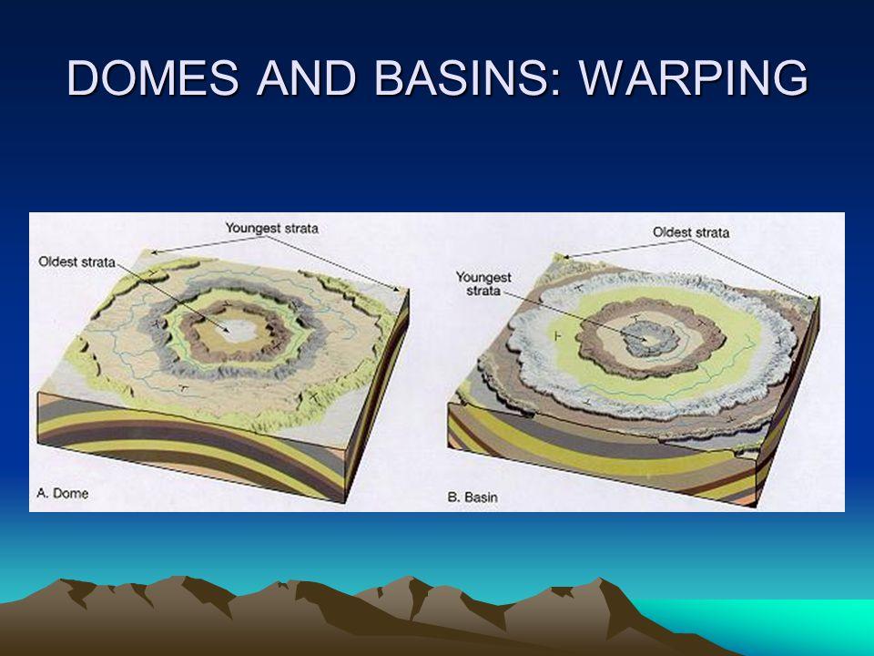 DOMES AND BASINS: WARPING