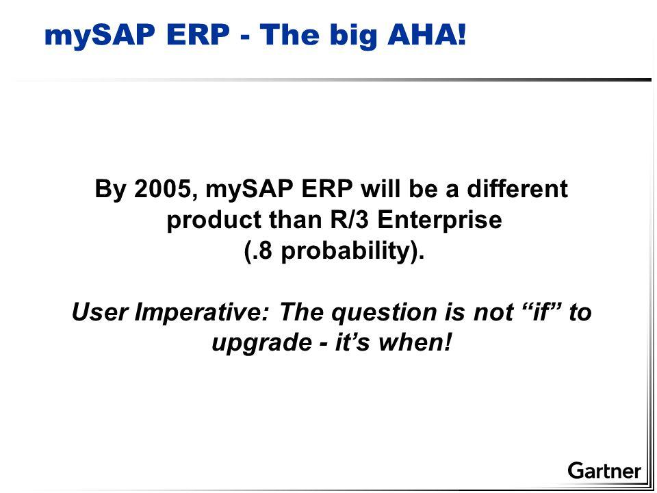 mySAP ERP - The big AHA.