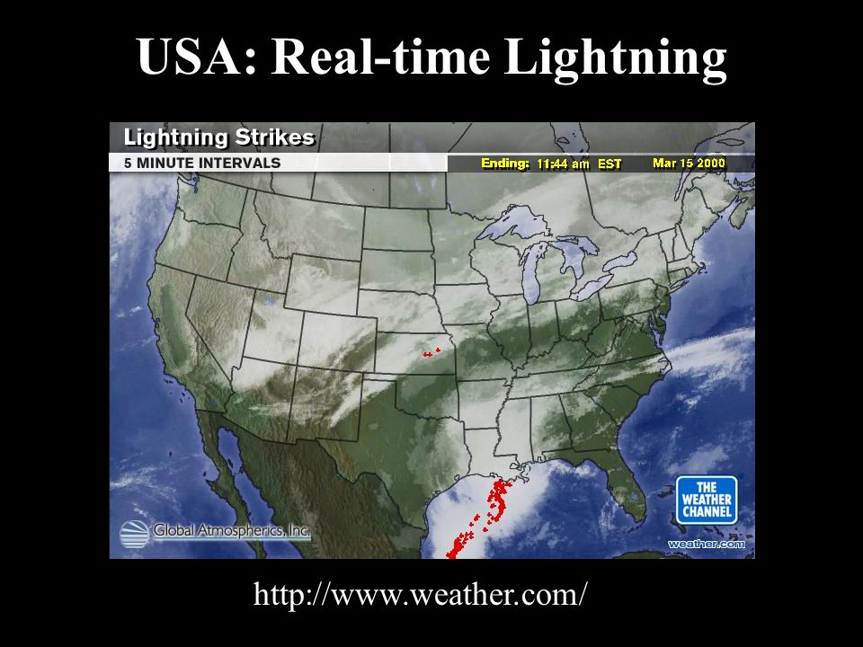 USA: Real-time Lightning http://www.weather.com/