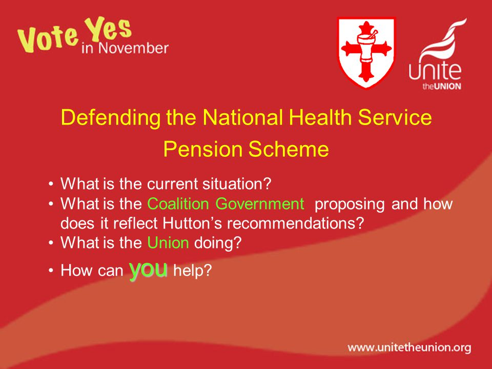 Defending the National Health Service Pension Scheme What is the current situation.