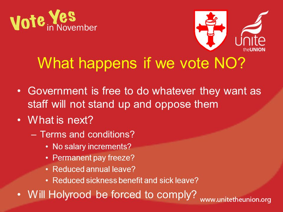 What happens if we vote NO.