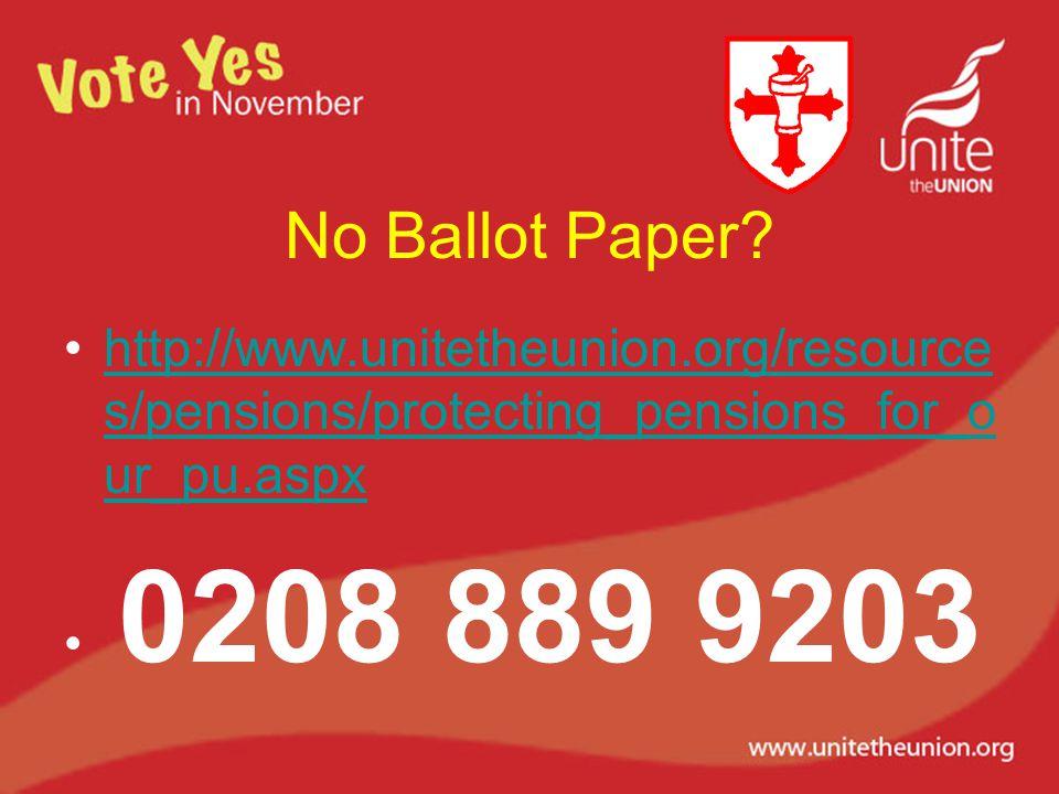 No Ballot Paper.