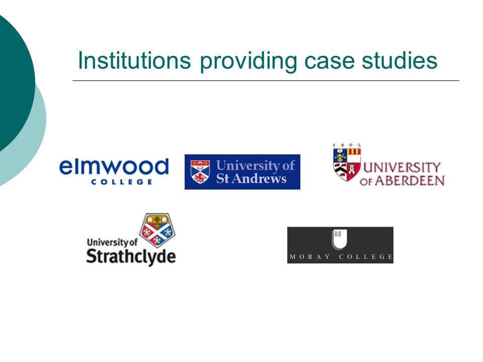 Institutions providing case studies