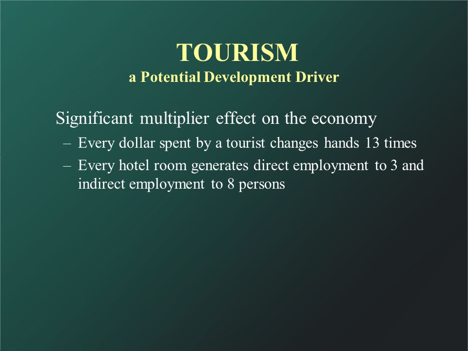 INITIATIVE: Policy/Regulatory Framework Tourism (Facilitation) Law OBJECTIVES To make the country/region Tourist Friendly : Security for tourist, i.e.