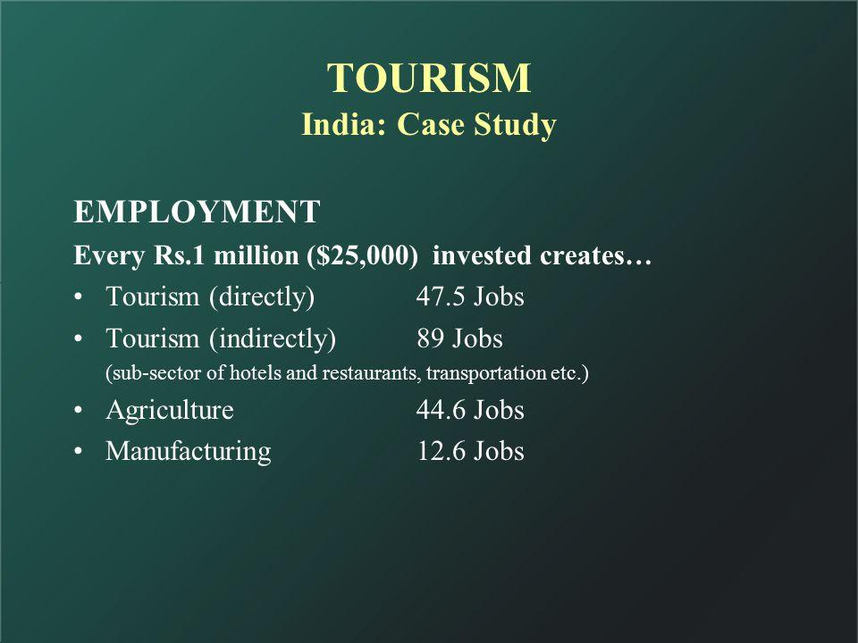 TOURISM India: Case Study TOURISM THIRD-LARGEST NET FOREX EARNER (2001-02) Gem & JewelryUS$ 7.40 Bn.