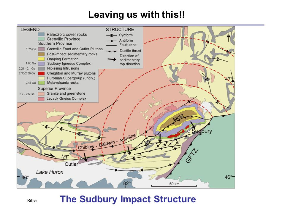 The Sudbury Impact Structure Leaving us with this!! Riller