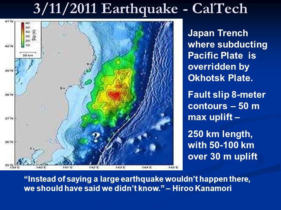 8.5 meter tsunami height at Miyako tide gauge, 412 dead, 355 missing 8.0 meter at Ofunato near Tsunami source 314 dead, 150 missing