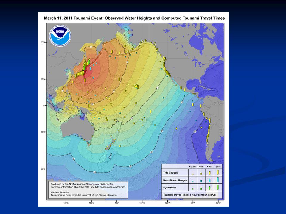 Deep ocean Assessment and Reporting of Tsunamis 1.8 m High, ~10 min period 450 NM NE Tokyo, 5685 m deep