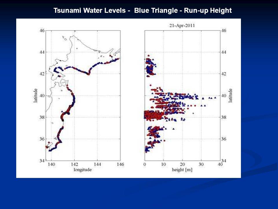 Miyako Tsunami Barrier Tsunami Height – 11.5 meter, Seawall 7.6 meter Run-up heights of 19.5 and 25.5 meter, Over roof of 4 th floor building near coast